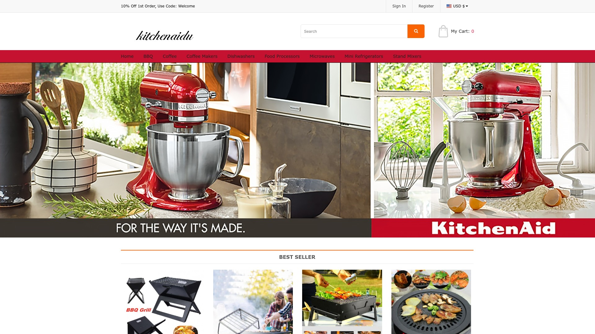 Kitchenaidu.com Scam  Review of the Fake Online Store