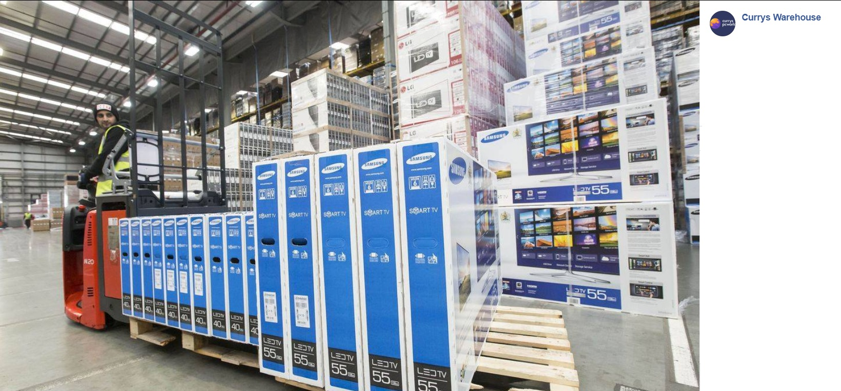 Currys Warehouse Facebook Scam  They are Not Giving Away 15 TVs