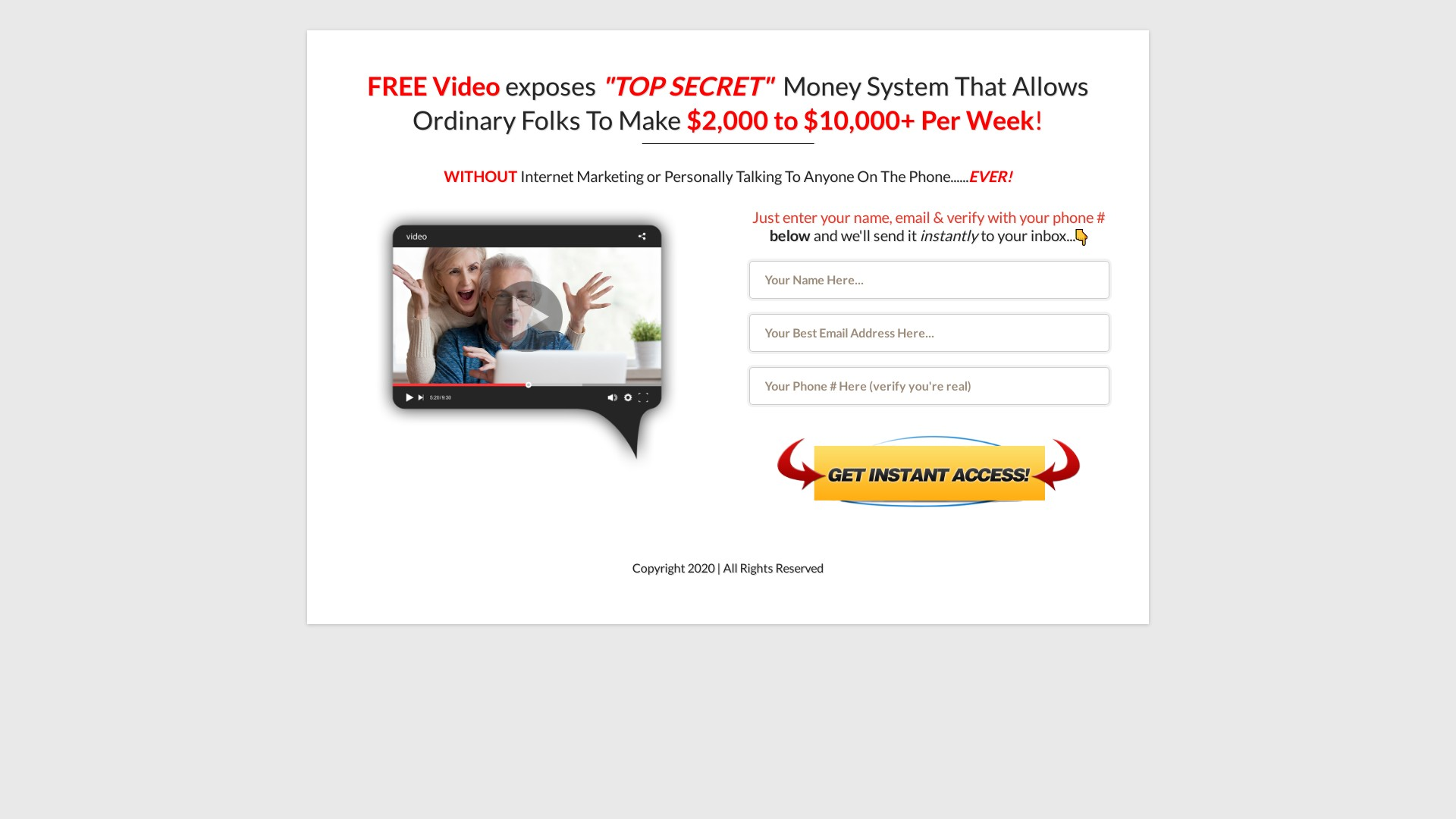 Is 50kvideo.com a Scam? Review of the Money System Website