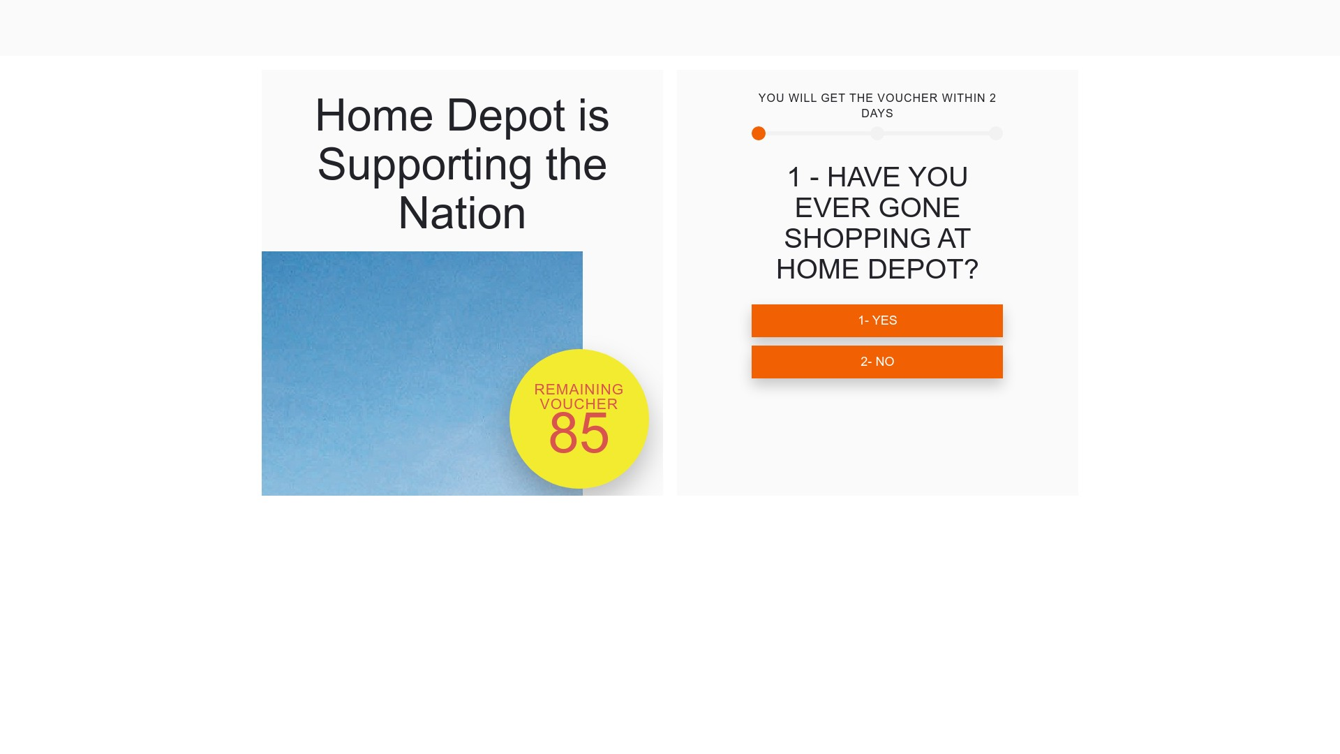 Home Depot Voucher $175 Scam Giveaway