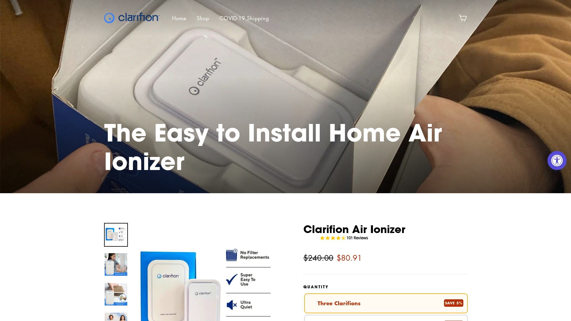Is Clarifion a Scam? Review of the Air Purifier