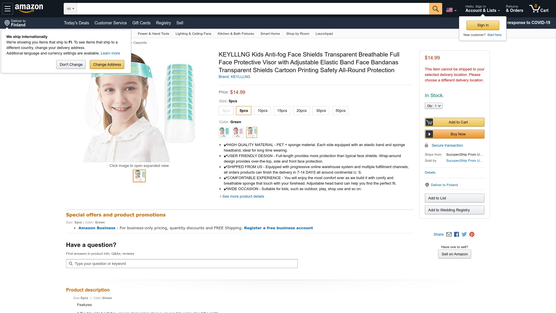 Is Amazon Keylllng Face Shield a Scam?