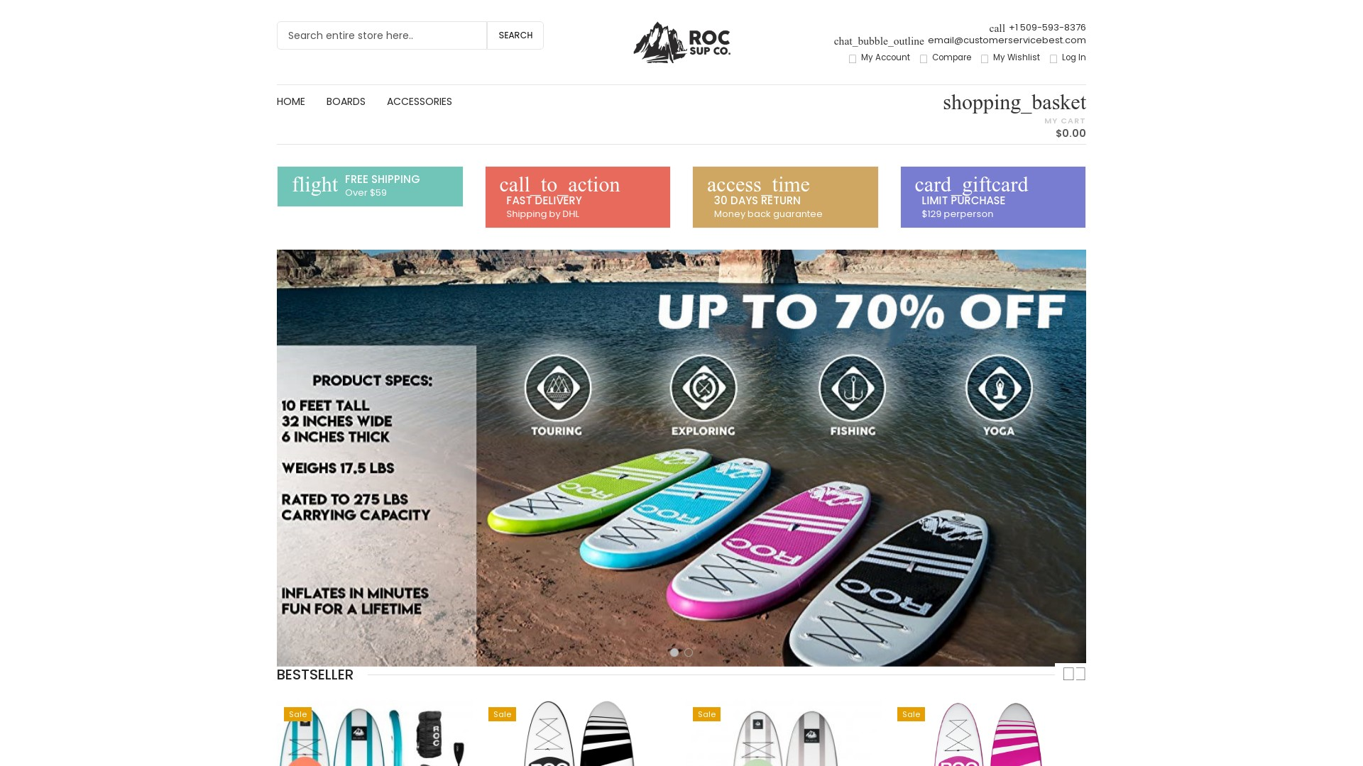 ROC SUP Co Scam - Fake Inflatable Paddle Board Stores
