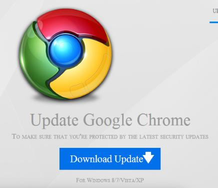 Google Chrome Web Browser Malicious Update Malicious Webpage