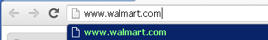 Web browser address bar: www.walmart.com
