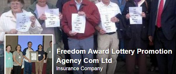 Facebook FreedomLottery page