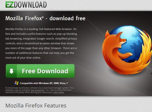 Fake Firefox Web Browser Download and Update Websites
