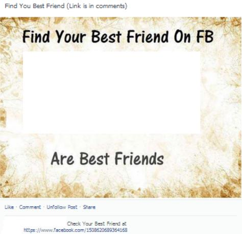 Find Your Best Friend On FB