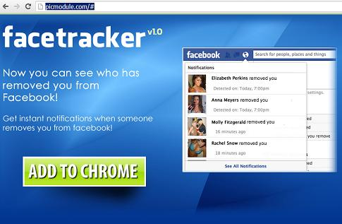 "The ""Who Removed Me FBRemove.com"" or FaceTracker Application and Website"