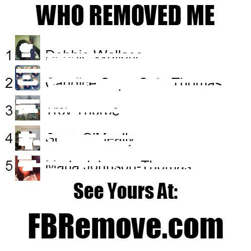"The Fake ""Who Removed Me"" Image Facebook Post"